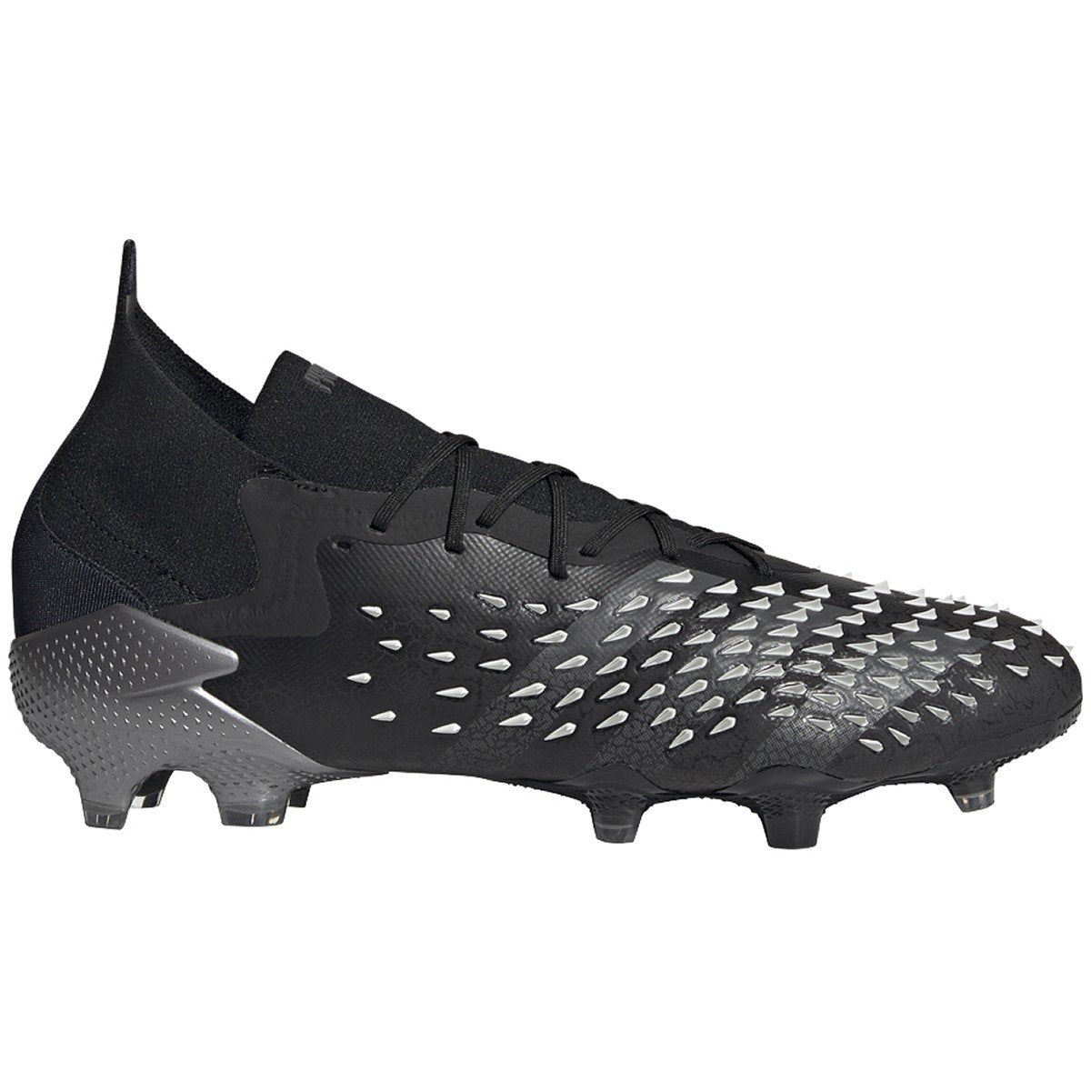 adidas Predator Freak.1 FG Men's Soccer Cleats | FY1021 Soccer Shoes adidas 8.5 Core Black-grey-white