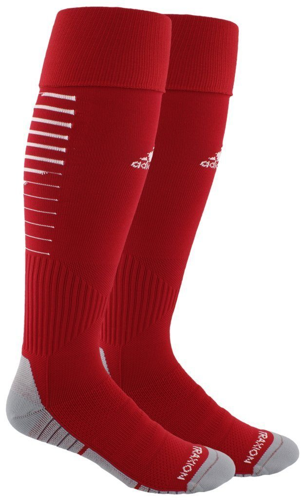 adidas Team Speed II Soccer OTC Sock | CK1863 Socks adidas Small power red/white/light Onix