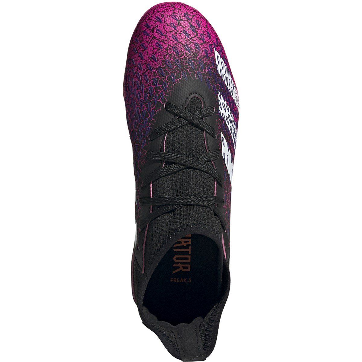 adidas Unisex-Child Predator Freak .3 Firm Ground Soccer Cleats | FW7530 Soccer Shoes Adidas 1 Black/White/Shock Pink