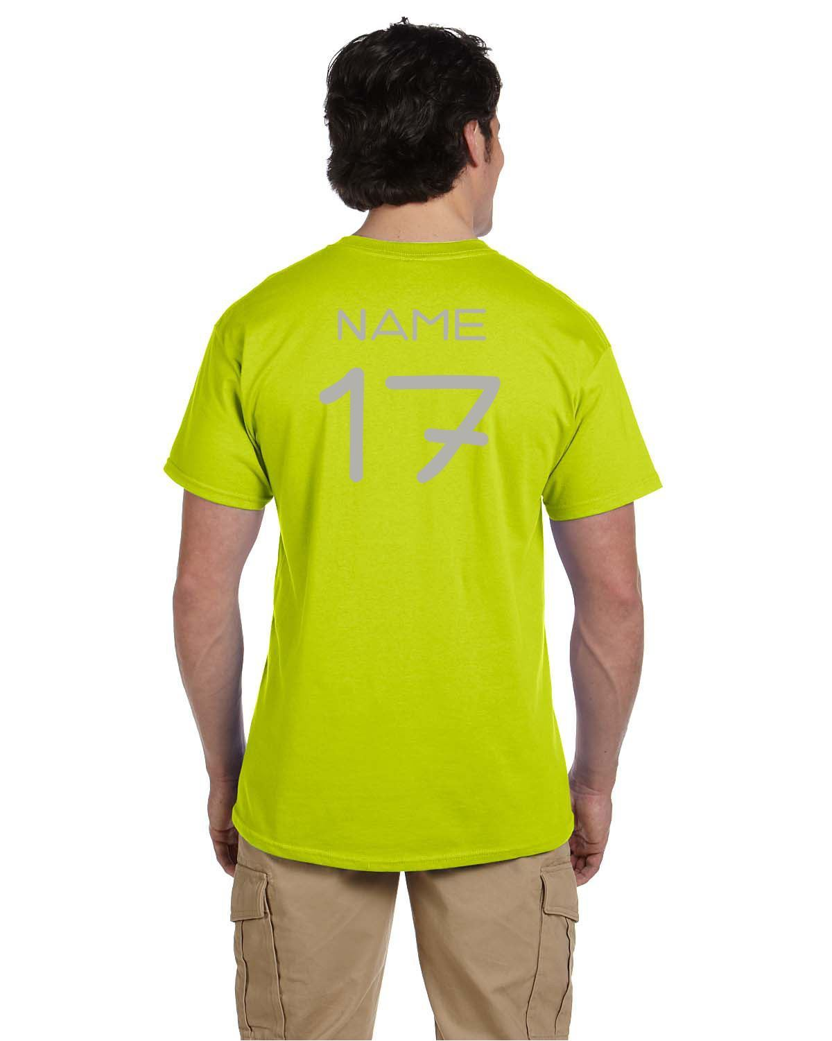 Galaxy Cup Short Sleeve Tee - Safety Green Goal Kick Soccer Youth Large