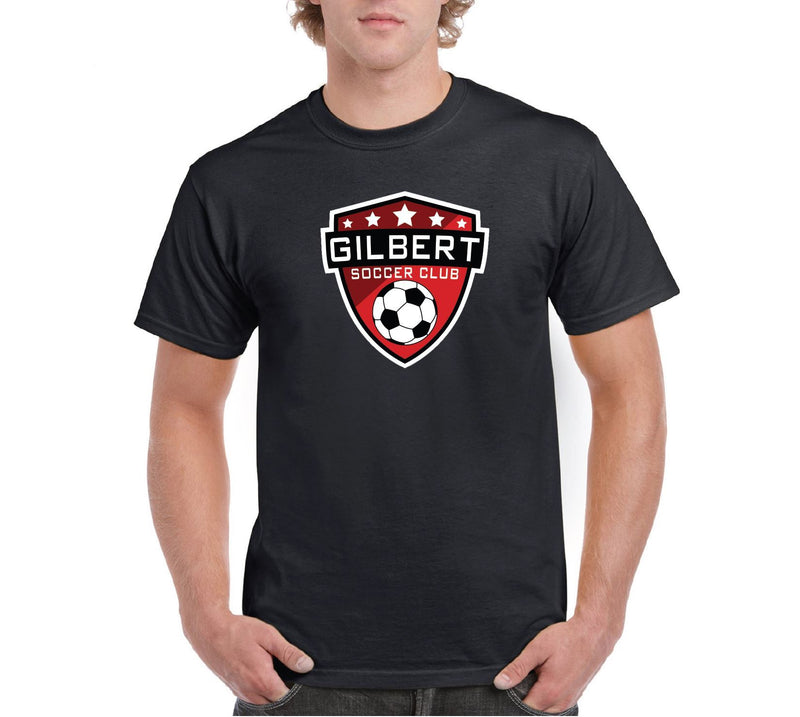 Gilbert Soccer Club Badge Short Sleeve Tee T-Shirt Goal Kick Soccer adult Small Black