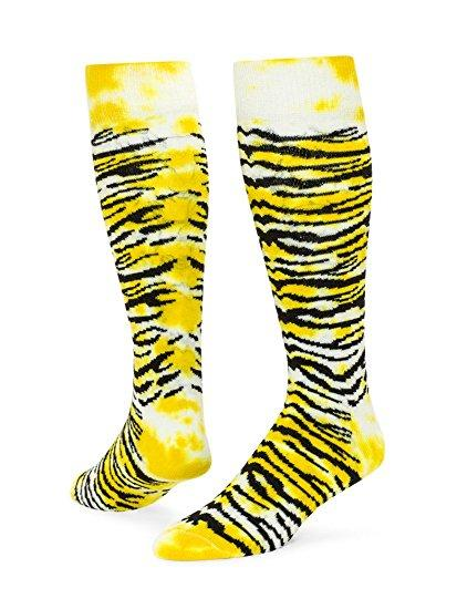 Tie Dyed Tiger Knee-High Socks Soccer Socks Red Lion Small Gold