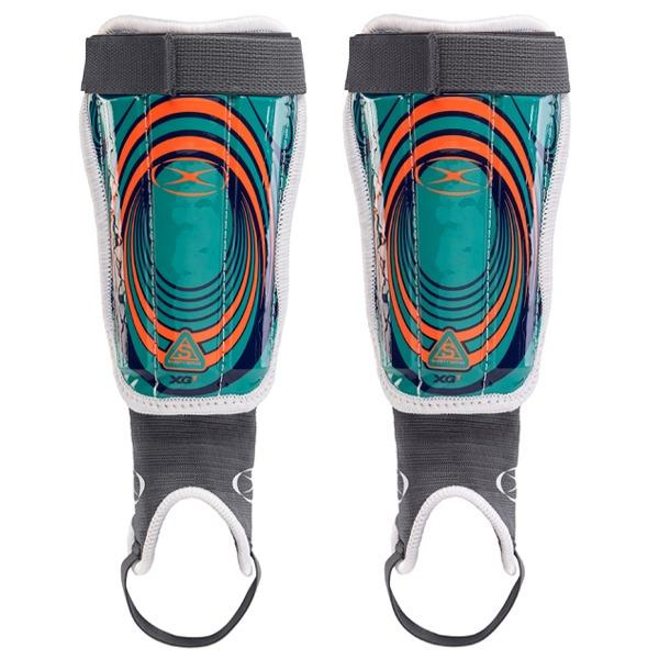 Xara XG-1 v4 Shinguard (Teal/Orange/Navy) Shinguards Xara XXX-Small Teal/Orange/Navy