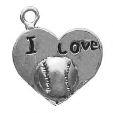 Charms. Sterling Silver, 16.5mm Width by 2.7mm Length by 17.9mm Height,