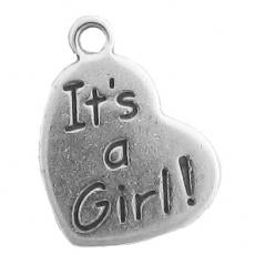 Charms. Sterling Silver, 15.2mm Width by 1.3mm Length by 20.2mm Height,