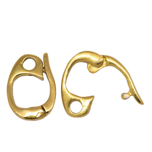 Sterling Silver Gold Plated / Vermeil 13.4mm Height by 2.4mm Length by 8.6mm Width, Enhancer Bail with 2.3mm Close Ring at the Bottom. Quantity per pack - 2 Pieces.