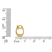 Load image into Gallery viewer, Sterling Silver Gold Plated / Vermeil 13.4mm Height by 2.4mm Length by 8.6mm Width, Enhancer Bail with 2.3mm Close Ring at the Bottom. Quantity per pack - 2 Pieces.