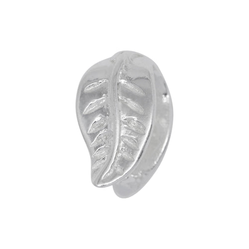 Bails. Sterling Silver 7.1mm Width by 12.3mm Height, Leaf Pinch Bail. Quantity per pack - 5 Pieces.