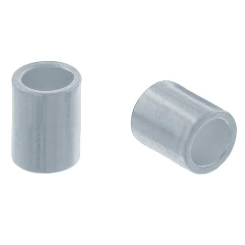 Crimps & Crimp Covers. Sterling Silver 1.0mm Width by 1.0mm Length, Plain Crimp Tube Beads. Quantity Per Pack: 100 Pieces.