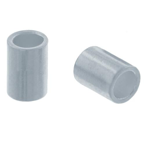 Crimps & Crimp Covers. Sterling Silver 2.0mm Width by 1.0mm Length, Plain Crimp Tube Beads. Quantity Per Pack: 100 Pieces.