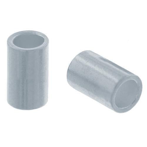 Crimps & Crimp Covers. Sterling Silver 2.0mm Width by 2.0mm Length, Plain Crimp Tube Beads. Quantity Per Pack: 100 Pieces.