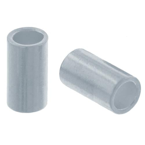 Crimps & Crimp Covers. Sterling Silver 2.0mm Width by 3.0mm Length, Plain Crimp Tube Beads. Quantity Per Pack: 100 Pieces.