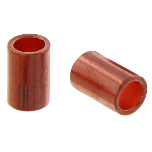 Crimps & Crimp Covers. Copper 1.8mm Width by 2.1mm Length, Plain Crimp Tube Beads. Quantity Per Pack: 100 Pieces.