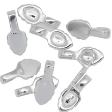 Load image into Gallery viewer, Sterling Silver 5.2mm Width by 7.6mm Height, Glue On Bail with 3.7mm Width by 4.3mm Height, Sliding Bail at the top. Quantity per pack - 10 Pieces.