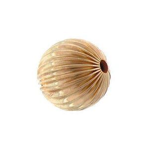 Beads. Gold Filled 8.8mm Width / Length / Height, Round Corrugated Bead. Quantity per pack: 5 Pieces.