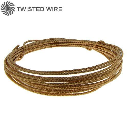 Wire. Gold Filled 24.0 Gauge Soft Twisted Wire. Ounces sold per pack - 0.5 ounce.