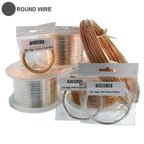 Wire. Gold Filled 14.0 Gauge Half Hard Round Wire. Ounces sold per pack - 0.5 ounce.
