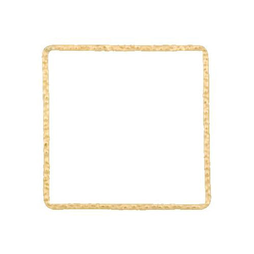 Connectors. Gold Filled 28.0mm Width / Length, Handmade Hammered Square Connector. Quantity Per Pack: 4 Pieces.