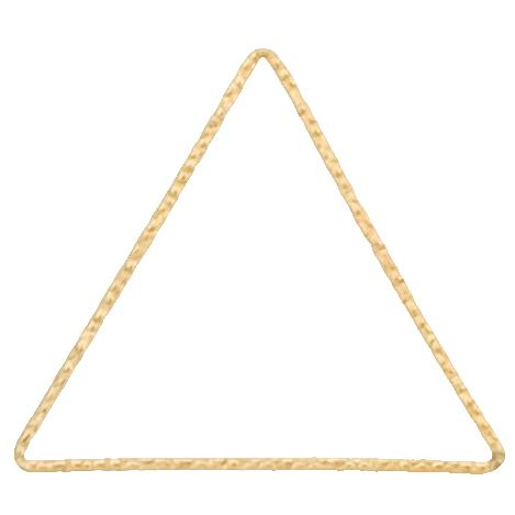 Connectors. Gold Filled 37.3mm Width / Length, Handmade Hammered Triangle Connector. Quantity Per Pack: 4 Pieces.