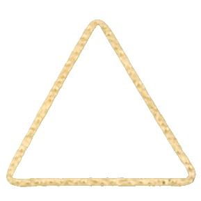 Connectors. Gold Filled 23.0mm Width / Length, Handmade Hammered Triangle Connector. Quantity Per Pack: 4 Pieces.