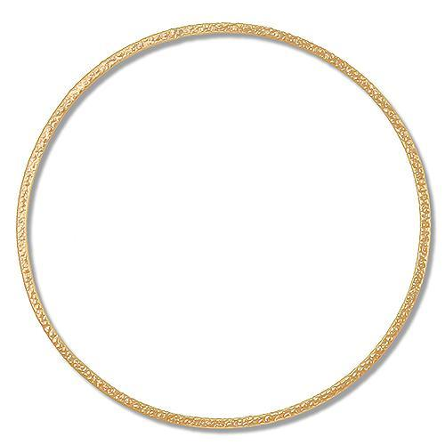 Bangles. Gold Filled 61.00mm Width / Length Hammered Bangle. Quantity Per Pack: 1 Piece.