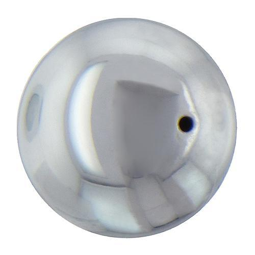 Beads. Sterling Silver 14.0mm Smooth Plain Round Seamless Bead. Quantity per pack: 1 Piece.