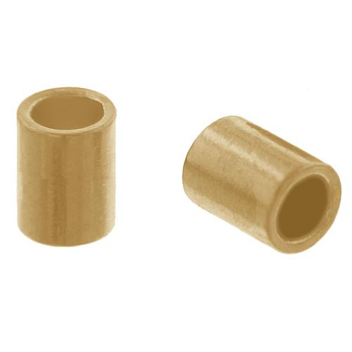 Crimps & Crimp Covers. Gold Filled 1.0mm Width by 1.0mm Length, Plain Crimp Tube Beads. Quantity Per Pack: 100 Pieces.