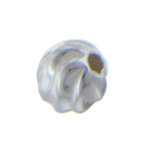 Beads. Sterling Silver 3.0mm Twisted Seamless Round Bead. Quantity per pack: 100 Pieces.