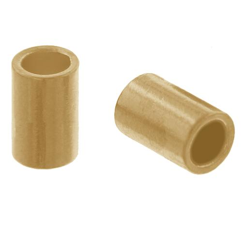 Crimps & Crimp Covers. Gold Filled 2.0mm Width by 1.0mm Length, Plain Crimp Tube Beads. Quantity Per Pack: 100 Pieces.