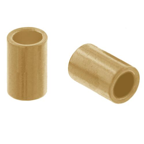 Crimps & Crimp Covers. Gold Filled 2.0mm Width by 2.0mm Length, Plain Crimp Tube Beads. Quantity Per Pack: 100 Pieces.