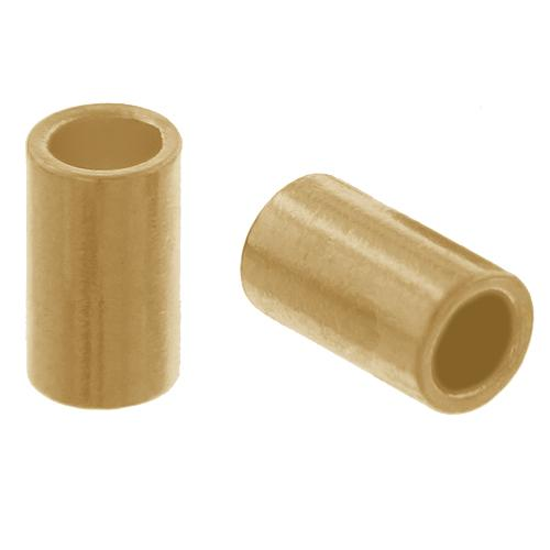 Crimps & Crimp Covers. Gold Filled 2.0mm Width by 3.0mm Length, Plain Crimp Tube Beads. Quantity Per Pack: 50 Pieces.
