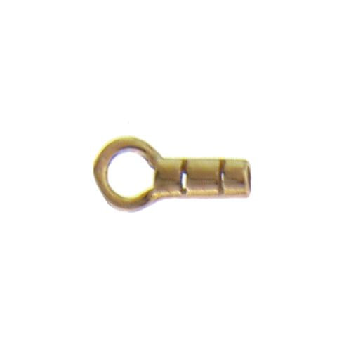 Crimps & Crimp Covers. Sterling Silver Gold Plated 2.3mm Width by 8.7mm Length, Plain Crimp Tube with 4.1mm Width / Length Fix Ring. Quantity Per Pack: 20 Pieces.