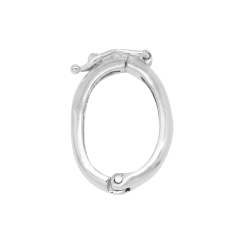 Clasps. Sterling Silver 12.7mm Width by 2.5mm Length by 19.2mm Height, Pearl Shortner. Quantity Per Pack: 1 Piece.
