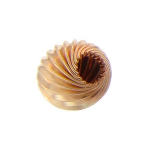 Beads. Gold Filled 7.0mm Width / Length / Height Seamless Corrugated Round Bead with Hole Size of 1.9mm. Quantity per pack: 10 Pieces.