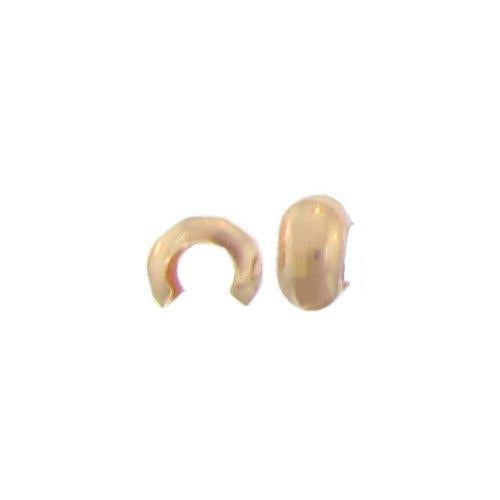 Crimps & Crimp Covers. Gold Filled 3.1mm Width by 4.3mm Length, Faceted Crimp Covers. Quantity Per Pack: 50 Pieces.