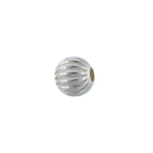 Beads. Sterling Silver 4.0mm Width / Length / Height Seamless Corrugated Round Bead. Quantity per pack: 50 Pieces.