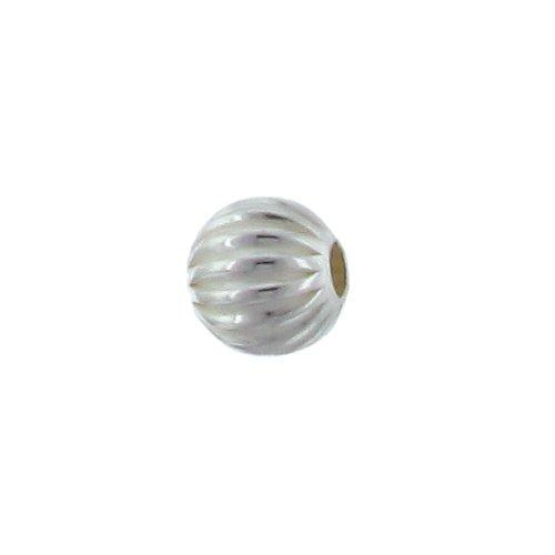 Beads. Sterling Silver 5.0mm Width / Length / Height Seamless Corrugated Round Bead. Quantity per pack: 20 Pieces.
