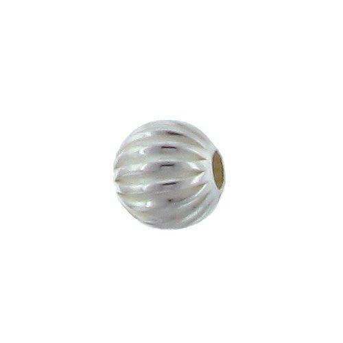 Beads. Sterling Silver 6.0mm Width / Length / Height Seamless Corrugated Round Bead. Quantity per pack: 25 Pieces.