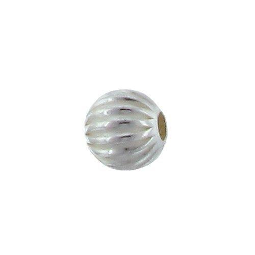 Beads. Sterling Silver 7.0mm Width / Length / Height Seamless Corrugated Round Bead. Quantity per pack: 10 Pieces.