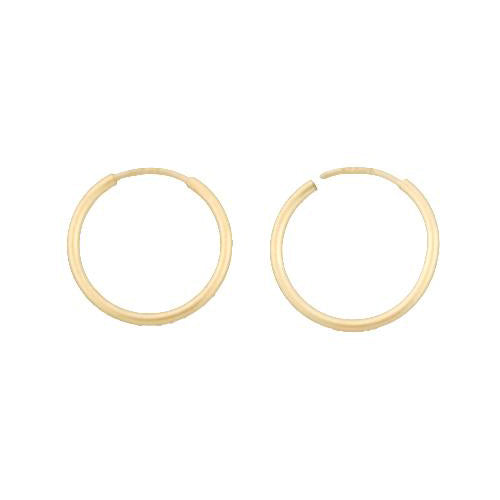 Ear Findings. 14kt Gold Filled 16.0 Gauge, 14.0mm Width / Length Infinity / Endless Hoop. Quantity Per Pack: 8 Pieces.