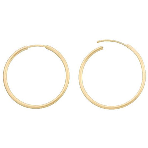 Ear Findings. 14kt Gold Filled 16.0 Gauge, 20.7mm Width / Length Infinity / Endless Hoop. Quantity Per Pack: 4 Pieces.