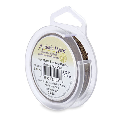 Artistic Wire. Twisted Artistic Wire, 0.020 Inch Diameter, 10 Yards, Antique Brass Wire. Spools sold per pack - 1 Spool.