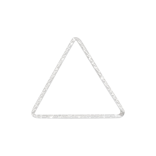 Connectors. Sterling Silver 23.00mm Width / Length, Handmade Hammered Triangle Connector. Quantity Per Pack: 2 Pieces.