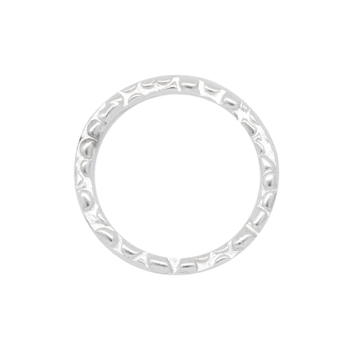 Connectors. Sterling Silver 10.25mm Width / Length, Handmade Hammered Circle Connector. Quantity Per Pack: 4 Pieces.