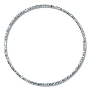 Bangles. Sterling Silver 72.00mm Width / Length Hammered Bangle. Quantity Per Pack: 1 Piece.