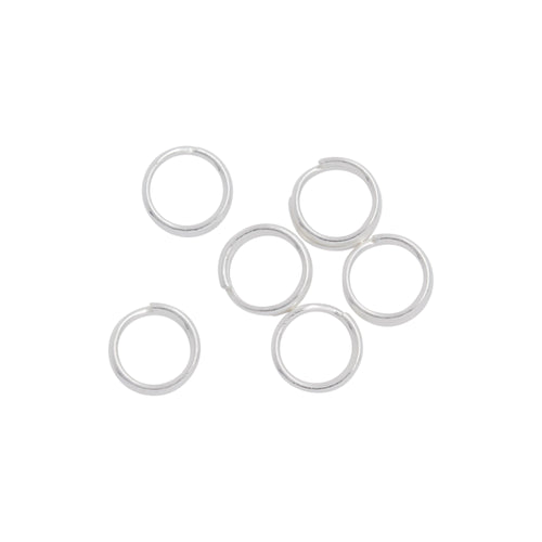Split Rings. Sterling Silver 24.0 Gauge, 4.80mm Width / Length / Height, Round Split Ring. Quantity Per Pack: 50 Pieces.