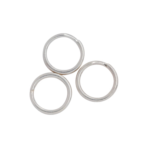 Split Rings. Sterling Silver 21.0 Gauge, 7.0mm Width / Length / Height, Round Split Ring. Quantity Per Pack: 50 Pieces.