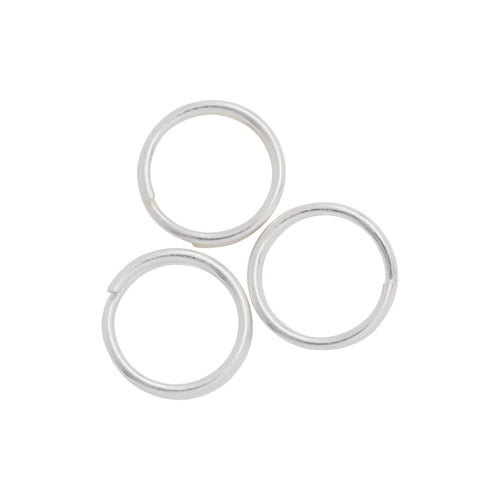 Split Rings. Sterling Silver 21.0 Gauge, 8.0mm Width / Length / Height, Round Split Ring. Quantity Per Pack: 20 Pieces.