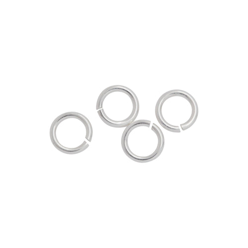 Jump Rings. Sterling Silver 22.0 Gauge 4.0mm Width / Length / Height, Smooth Open Jump Ring. Quantity Per Pack: 100 Pieces.