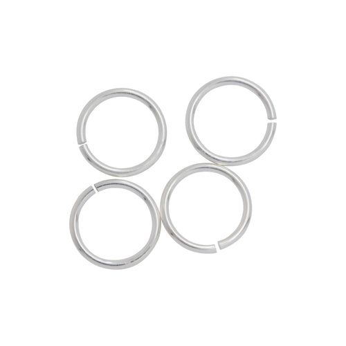 Jump Rings. Sterling Silver 22.0 Gauge 6.0mm Width / Length / Height, Smooth Open Jump Ring. Quantity Per Pack: 50 Pieces.